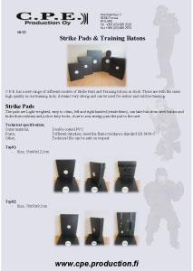 Strike Pads & Batons