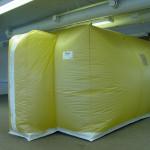 Védősátor - komplex védelem Kollektív gázálarc 01