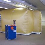 Védősátor - komplex védelem Kollektív gázálarc 02