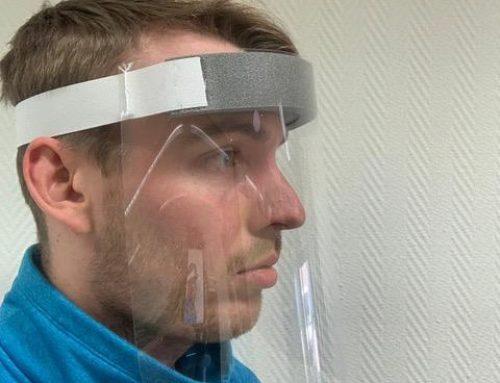 CPE Plexi maszk a koronavírus elleni küzdelemhez